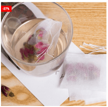 100 pcs Empty Teabags Pouches With String