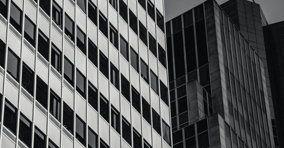 A close up of a tall building